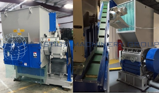 100 HP, Shredder System with Conveyor and Grinder
