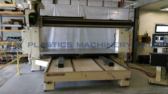 Motionmaster router 5x5 twin table 5 axis