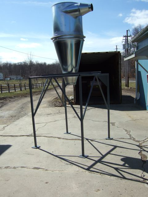 Cyclone Stand, Large for 30 HP to 75 HP Grinders