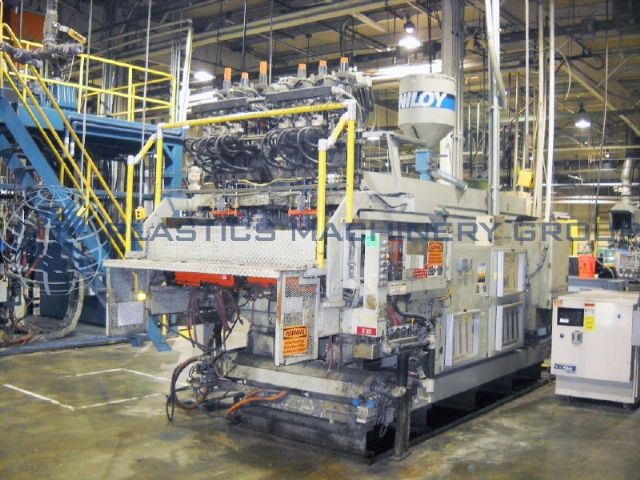 Uniloy 350 R3 6-Head Blow Molder