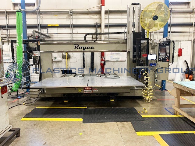 2006 Royce 5 Axis CNC Router, Twin 5x5 Tabled